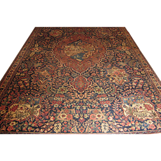 Antique Handmade Authentic Persian Tabriz Rug - Circa 120 years - 340 x 217 cm - 11.1 x 7.1 ft