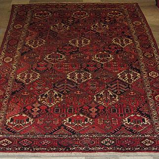 Antique Handmade Authentic Persian Bakhtiari Rug - 100+ years - 300 x 208 cm - 9.8 x 6.8 ft