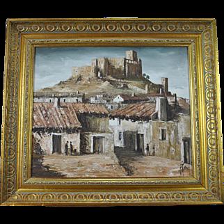 Raul Santos Viana Oil Painting Velez Blanco Almeria Spain Mediterranean Landscape