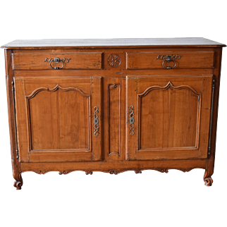 Early 18th Century Large French Cherry Wood Buffet