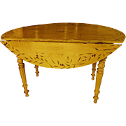 French Provencal Hand Painted Napoleon III Table