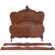 French Louis XV Walnut Bed