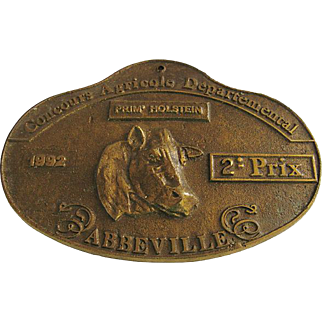 French Agricole Bronze Award Plaque