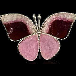Turmaline butterfly pin Brooch  pendant