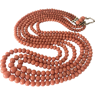 66 Gram genuine un-dyed coral necklace