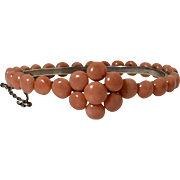 Natural salmon coral bead coral bracelet victorian