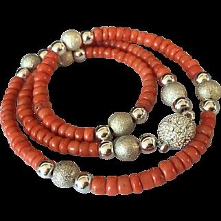 27.97 gram Old natural coral necklace