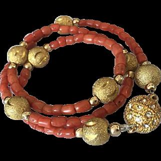 26 Gram old natural coral necklace