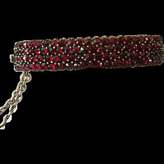 Antique victorian genuine bohemian garnet bracelet