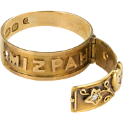 A Rare Victorian MIZPAH 18CT Gold and Diamond Ring which Opens