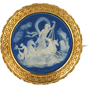 Wedgewood and 15ct Gold (tested) Victorian Cameo brooch