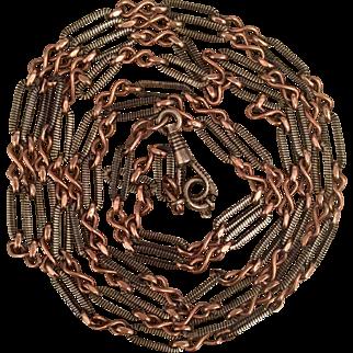 Rare Niello Long Length Muff Chain