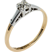 Art Deco on Your Fingers Diamond Engagement Ring