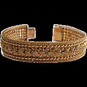 Portuguese Filigree 18ct Gold Bracelet