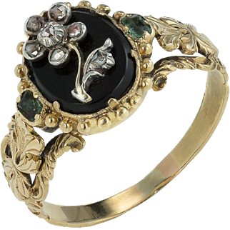 A Charming 'Forget me not' Georgian Ring in Box, Ca 1820