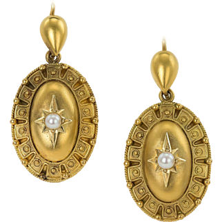 Elegant Oval Etruscan style Victorian Earrings