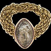 A  Lovely Georgian Memorial Sepia Bracelet