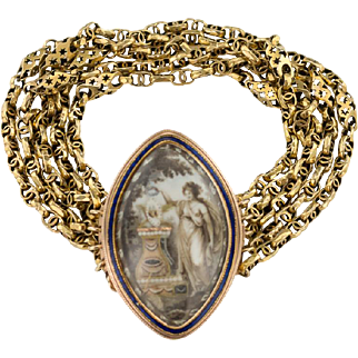 A  Lovely Georgian Memorial Sepia Bracelet