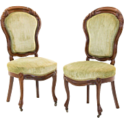 Pair of Continental Side Chairs, 19th Century
