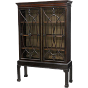 Mahogany Chippendale style display cabinet, 19th century