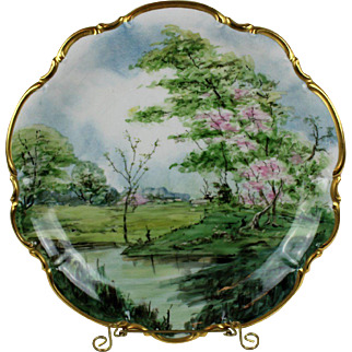 Hutschenreuther Selb Bavarian Hand Painted Platter by Osborne