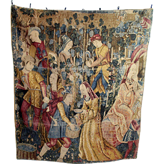 Beautiful Renaissance Style Printed Tapestry