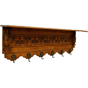 French Gothic Revival Coat Rack 19th c., 1800s