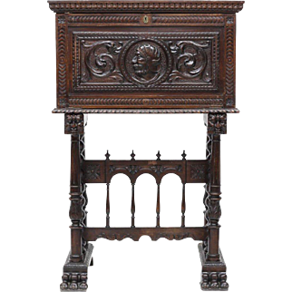 Spanish Renaissance Revival Vergueno Desk