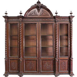 Details about  Monumental Portuguese 4-door bookcase 19th Century ( 1800s )