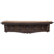 Renaissance Revival Style Carved Wall Hat RAck, 19th Century ( 1800s )