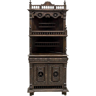 French Breton Corner Cupboard 19th Century (1900s)