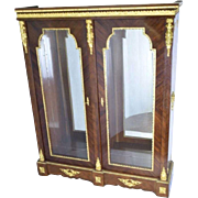Lovely Empire Rosewood Curi Parquetry Display Cabinet Vitrine with Ormolu Mounts!!