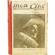 Vintage Rare French 1920s Cinema Magazines Bound as a Book