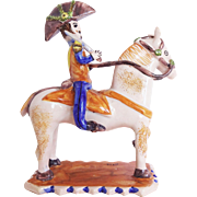 Jose Gimeno Martinez Spanish Art Pottery Soldado / Soldadito a Caballo / Soldier on Horseback Figurine