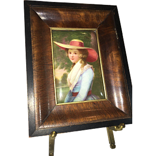 Miniature Enamel Portrait – Cottage Girl