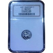 2001 NGC Perfect MS70 $10 Platinum Eagle!
