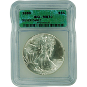 $4,850.00 Coin? 1986 ICG Perfect MS70 $1 Silver Eagle!!