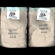 Rare Fine!  2 Unopened Mint Bags - 1999 Delaware P & D Quarters!