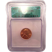 Rare Date 1957 D Lincoln Cent. ICG Graded MS67RD! 525.00 Book Value!