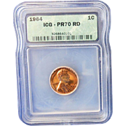 Rare Date 1964 Lincoln Cent! ICG Graded PR70RD! 1,800.00 Book Value!