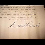 Rare Original 1932 Franklin D. Roosevelt Signed Typed Letter!