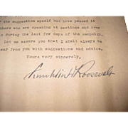 Rare Original 1932 Franklin D. Roosevelt Signed Typed Letter!