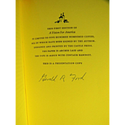 Very Rare! Gerald Ford Signed Limited Edition Presentation!  Only 500 Copies!