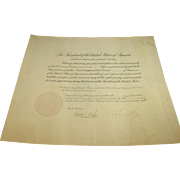 Calvin Coolidge Document Signed as President with Certificate of Authenticity!
