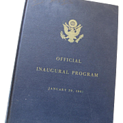 John F. Kennedy Limited Edition Official Inagural Program - January 20, 1961
