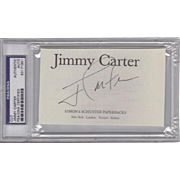 President Jimmy Carter Certified & Encased Signature! (1)