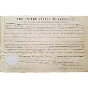 1854 Land Grant Signed President Franklin Pierce!