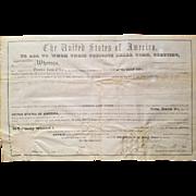SALE President Millard Fillmore Signed Land Grant Document!