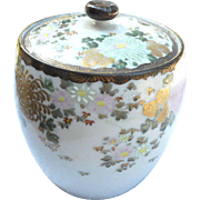 Circa 1880 oriental ginger jar with cover floral design