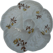 Vintage 6 well oyster plate with floral design in mint condition. Your satis